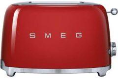 Smeg TSF01RDEU 50's style broodrooster 2X2 geschikt voor twee sneetjes brood, Rood