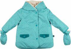 Turquoise Ducksday - winterjas waterdicht voor baby - unisex - Karo - 68