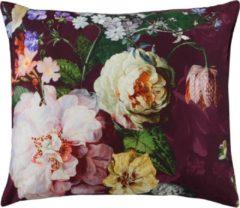 Bordeauxrode Essenza Fleur - Dekbedovertrek - Lits-jumeaux - 260x200/220 cm + 2 kussenslopen 60x70 cm - Burgundy