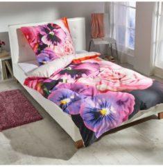 Mako-Satin Wendebettwäsche Rose multi Bettwaren-Shop multi