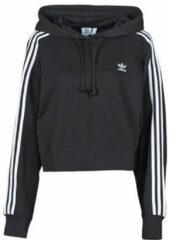 Adidas Originals - Adicolor - Cropped hoodie in zwart