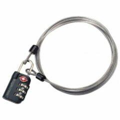 Grijze Eagle Creek - 3-Dial TSA Lock & Cable - Cijferslot maat 128 cm grijs/zwart