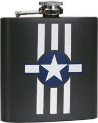 Fostex Zakfles/heupflacon groen 180ml- USAF stripes