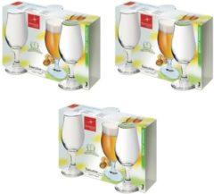 Transparante Merkloos / Sans marque 9x Speciaalbier glazen - 375 ml - tulpvormige bierglazen