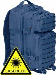 Marineblauwe Brandit Backpack - Rugzak - LASERCUT Mollie system - medium navy