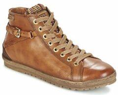 Pikolinos Lagos Boots met Rits/Veter Cognac