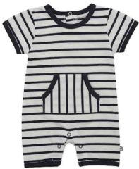 Blauwe Minymo - newborn jongens playsuit - YD stripe - Blue - Maat 62