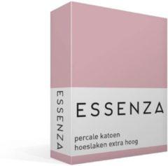 Essenza Premium - Percale katoen - Hoeslaken - Extra Hoog - Eenpersoons - 80x200 cm - Lilac