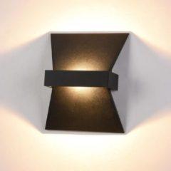 Decodap Wandlamp Trame - 16 cm - Led - Zwart