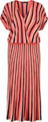 Expresso gestreepte maxi jurk rood/wit/rood