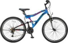 24 Zoll Jungen Fully Mountainbike 21 Gang Hoopfietsen... blau-rot