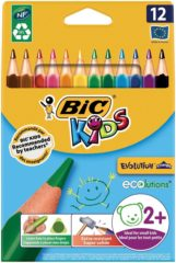 Creativ company Evolution kleurpotloden, vulling: 5 mm, l: 14 cm, kleuren assorti, driehoekig, 12stuks