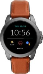 Fossil FTW4055 Gen. 5E Sport Smartwatch bruine band 42 mm