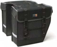 Grijze New Look New Looxs Superior Midi - Dubbele Fietstas - 27 l - Black/ grey