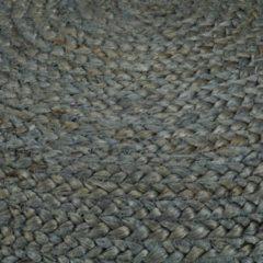 VidaXL Poef handgemaakt 45x30 cm jute olijfgroen