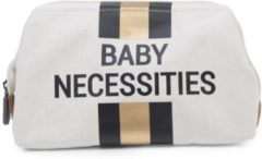 Gouden Childhome BABY NECESSITIES CANVAS OFF WHITE STRIPES BLACK/GOLD