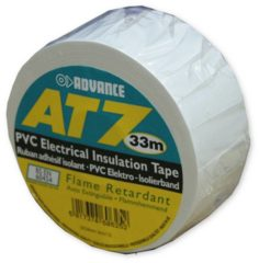 Witte Advance AT 7 PVC tape 38mm. x 33m. Wit