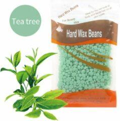 DW4Trading® Hard wax beans 100 gr ontharen harsen lichaam gezicht spatels Tea Tree