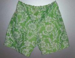 Hihihaha Korte broek - groen - bloemen - maat 36