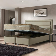 Taupe WoonQ Opbergboxspring Saint Tropez