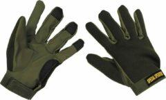 Donkergroene MFH Neopreen Vingerhandschoenen olijf/legergroen, MAAT M