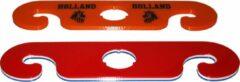 Rode Merkloos / Sans marque Wijnbutler / wijnglasdrager - set van 2 - Holland