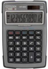Citizen Office WR-3000GY Bureaurekenmachine werkt op zonne-energie, werkt op batterijen Grijs Aantal displayposities: 12