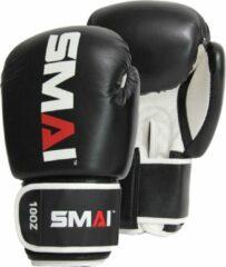 SMAI bokshandschoenen zwart/wit/rood 8oz