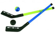 Blauwe Scatch Straathockeyset - 2 x Stick, 1x Bal, 1x Puck - 77,5 cm - 4-Delig
