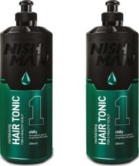 Nish Man Hair Tonic- 400 ml- 2 Stuks