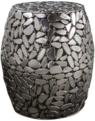 Zaloni Bijzettafel Jackstone 46 cm hoog - Zilver grijs