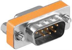 Zilveren Wentronic Goobay 50687 SUB-D 9 pin SUB-D 9 pin Zilver kabeladapter/verloopstukje