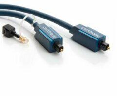 Clicktronic Toslink Digitale audio Aansluitkabel [1x Toslink-stekker (ODT) - 1x Toslink-stekker (ODT)] 20 m Blauw