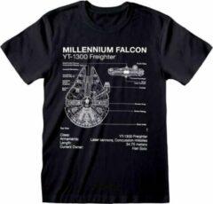 ABYSTYLE STAR WARS - T-Shirt - Millennium Falcon Sketch (M)