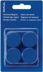 Maul magneet MAULsolid, diameter 38 mm, blauw, blister van 4 stuks