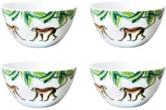 Catchii 4 x Ontbijtkommen 14 cm Jungle Stories Aapjes