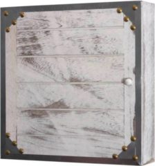 Heute-wohnen Schlüsselkasten Virginia, Schlüsselschrank Holzbox, Shabby-Look Vintage 27x27x6cm