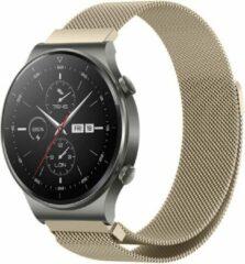 IMoshion Milanees Smartwatch Bandje voor de Huawei Watch GT 2,Huawei Watch GT 2 Pro,Huawei Watch GT 2e Sport 46 mm - goud