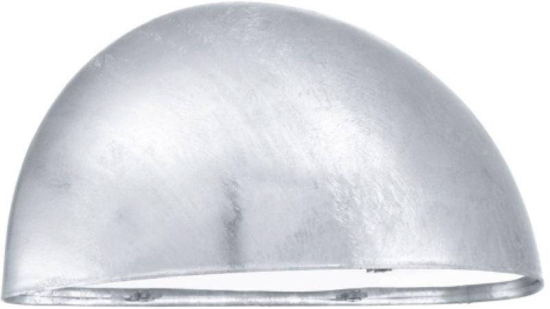 Afbeelding van Zilveren EGLO Lepus - Buitenverlichting - Wandlamp - 1 Lichts - Zink - Wit