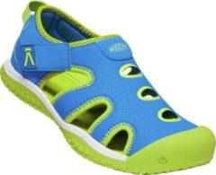Blauwe Keen Stingray Sandalen Unisex - Brilliant Blue/Chartreuse - Maat 27/28