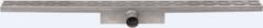 Easy Drain Compact 50 douchegoot RVS met enkele plaat RVS, waterslot 50mm 80cm inbouw diepte 83mm met zijuitloop