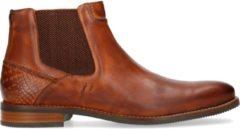Manfield - Heren - Cognac leren chelsea boots - Maat 43