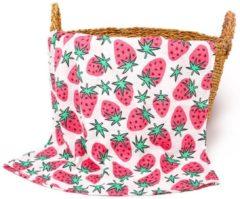 Happy Flute Swaddle doek XL - Aardbeien groot | Inbaderdoek | Hydrofiele doek | Hydrofiele luier | Gratis verzending | Kidzstore.eu
