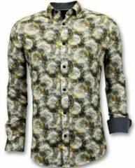 Gele Overhemd Lange Mouw Tony Backer Luxe Overhemden Met Digitale Print