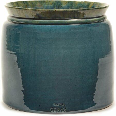 Afbeelding van Serax Bloempot Reactive Blue Blauw-Groen D 30 cm H 26 cm
