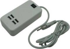 Bellson USB Oplader 4-ports Met 1.5 Meter Snoer