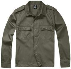 Brandit US Hemd langarm Camicia verde oliva