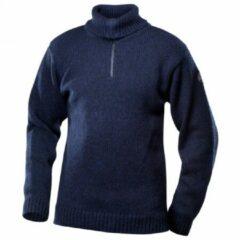 Blauwe Devold - Nansen Sweater Zip Neck - Wollen trui maat XS zwart/blauw