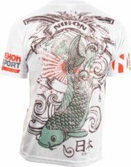Nihon Sportshirt Samurai Heren Wit Maat Xs