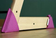 Kidsidee Sokkoo's Vloerbeschermers voor de kinderstoel, kleur Princessen Roze